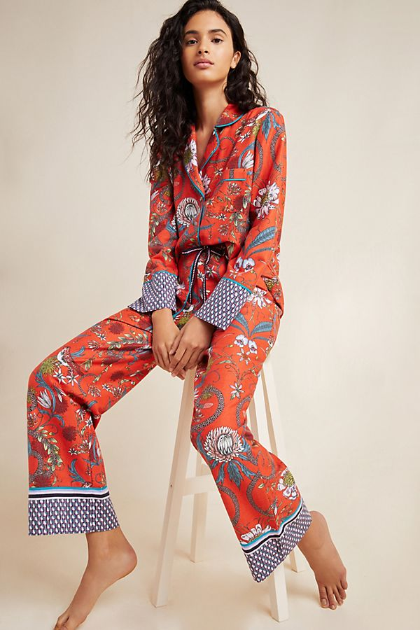 Slide View: 4: Victoria Garcia Sparrow Flannel Sleep Shirt