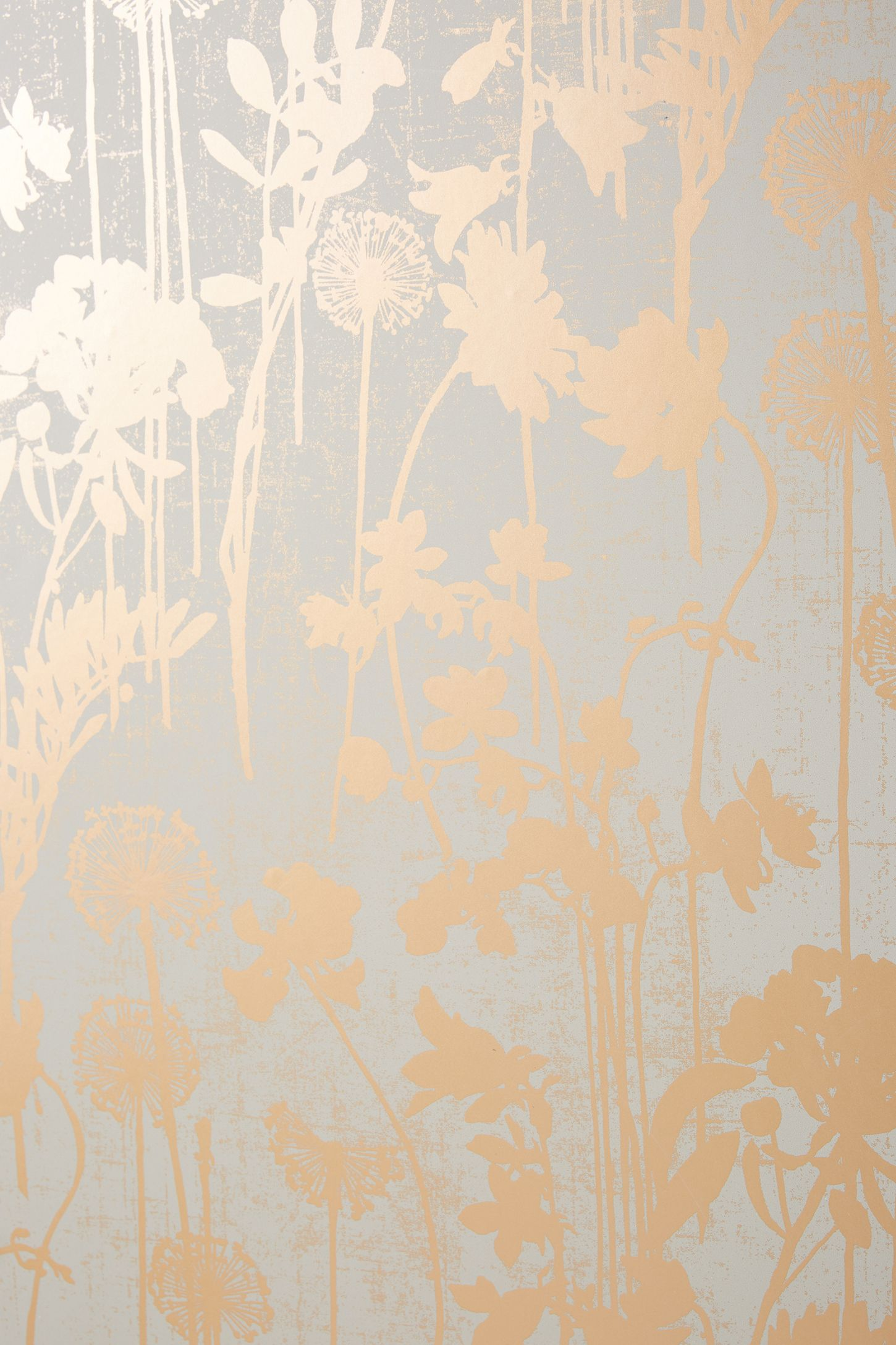 Distressed Floral Wallpaper Anthropologie