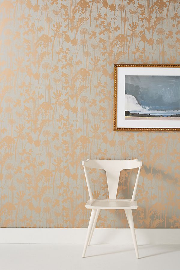 Distressed Floral Wallpaper