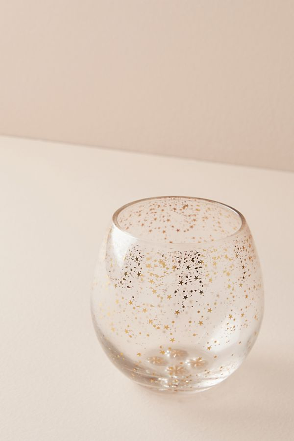 a08c3ddf482c Star Cluster Stemless Wine Glass | Anthropologie UK