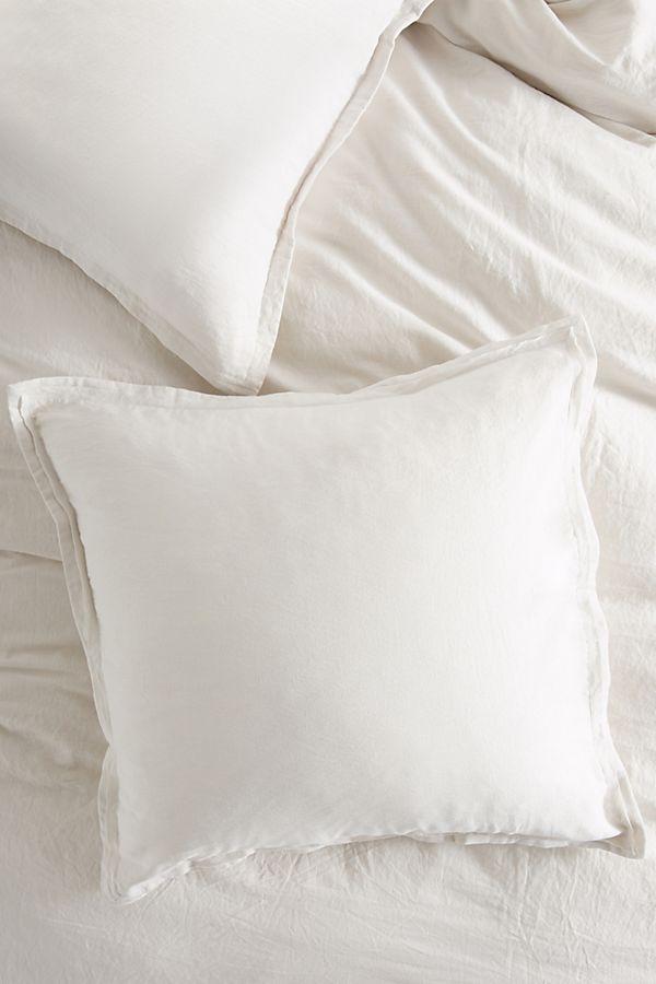 Relaxed Cotton Linen Square Pillowcase