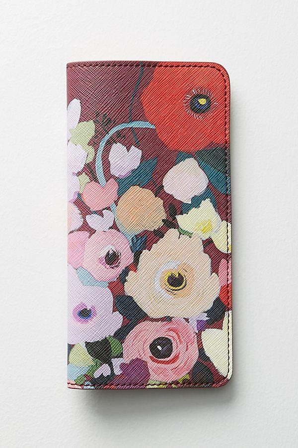 d65f46e264fda KT Smail Picturesque Florals Travel Wallet | Anthropologie