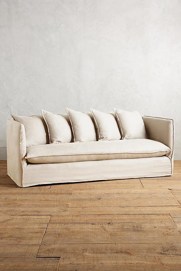 Belgian Linen Carlier Slipcover Sofa