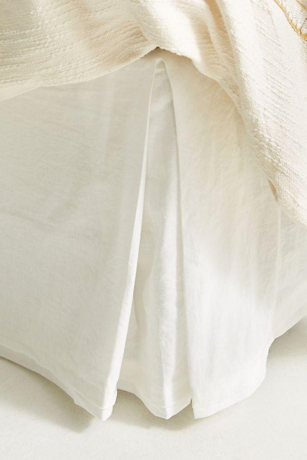 Linen Bed Skirt King.Relaxed Cotton Linen Bed Skirt