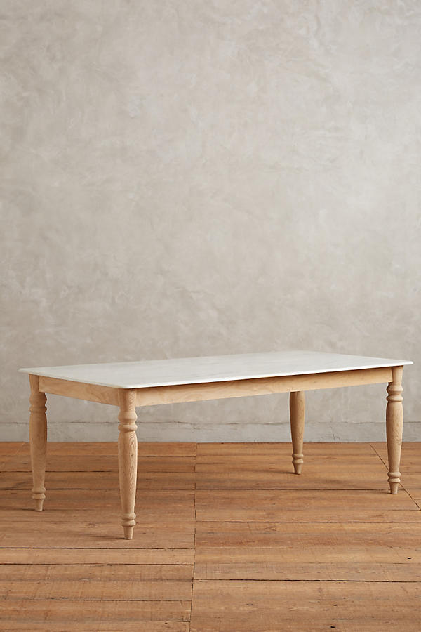 Polished Marble Dining Table Rectangle