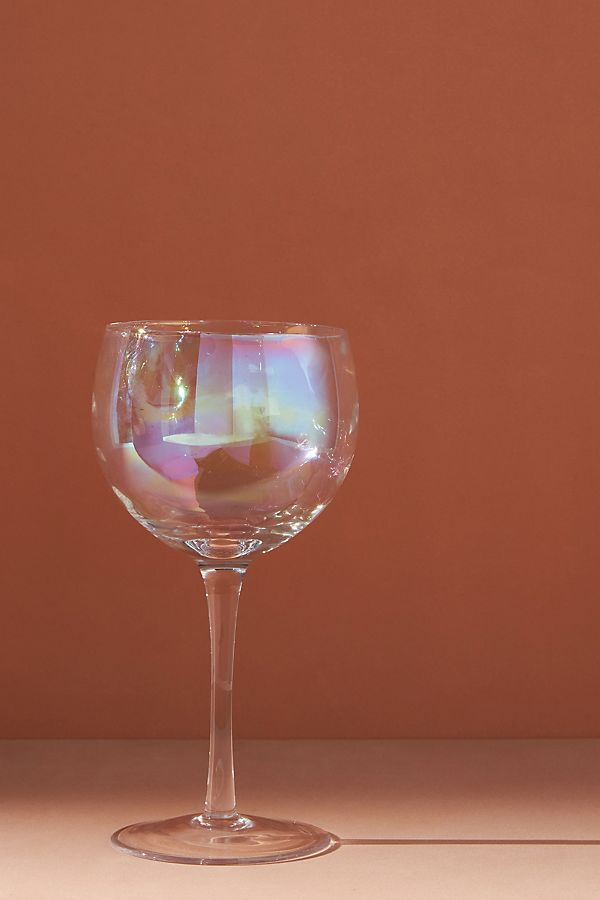 Slide View: 1: Iridescent Wine Glasses, Set of 4