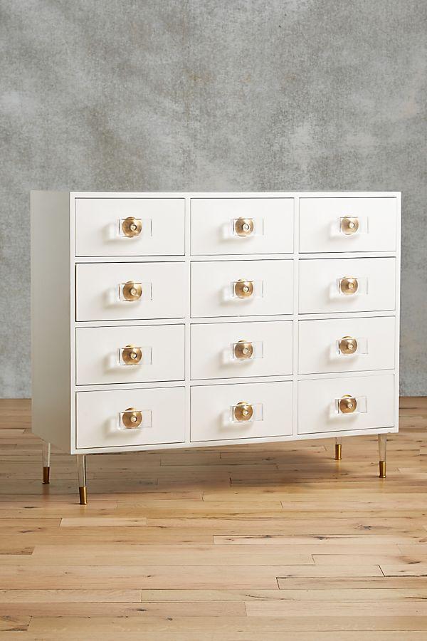 Slide View: 1: Lacquered Regency Twelve-Drawer Dresser