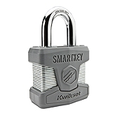 SmartKey Padlocks  , Satin Chrome 026 SMT STD | Kwikset Door Hardware