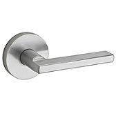 Halifax Door Levers, Satin Chrome 154HFL RDT 26D | Kwikset Door Hardware