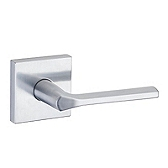 Lisbon Passage/Hall/Closet Door Levers, Satin Chrome 154LSL SQT 26D | Kwikset Door Hardware
