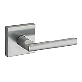 Montreal Passage/Hall/Closet Door Levers, Satin Chrome 154MRL SQT 26D | Kwikset Door Hardware