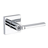 Lisbon Keyed Entry Door Levers, Polished Chrome 156LSL SQT 26 SMT | Kwikset Door Hardware