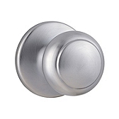 Cove Door Knobs, Satin Chrome 200CV 26D | Kwikset Door Hardware