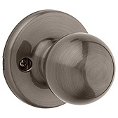 Polo Inactive/Dummy Door Knobs, Antique Nickel 488P 15A | Kwikset Door Hardware