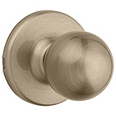 Polo Passage/Hall/Closet Door Knobs, Antique Brass 200P 5 | Kwikset Door Hardware