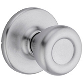 Tylo Passage/Hall/Closet Door Knobs, Satin Chrome 200T 26D | Kwikset Door Hardware