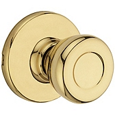 Tylo Door Knobs, Polished Brass 200T 3 | Kwikset Door Hardware