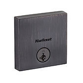 Downtown Low Profile Square Contemporary Deadbolt Single Cylinder Deadbolts, Venetian Bronze 258 SQT 11P SMT | Kwikset Door Hardware
