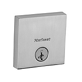 Downtown Low Profile Square Contemporary Deadbolt Deadbolts, Satin Nickel 258 SQT 15 SMT | Kwikset Door Hardware