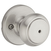 Cove Privacy/Bed/Bath Door Knobs, Satin Nickel 300CV 15 | Kwikset Door Hardware