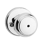Cove Privacy/Bed/Bath Door Knobs, Polished Chrome 300CV 26 | Kwikset Door Hardware