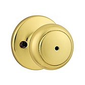 Cove Privacy/Bed/Bath Door Knobs, Polished Brass 300CV 3 | Kwikset Door Hardware