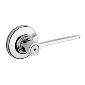 Ladera Privacy/Bed/Bath Door Levers, Polished Chrome 300LRL 26 | Kwikset Door Hardware