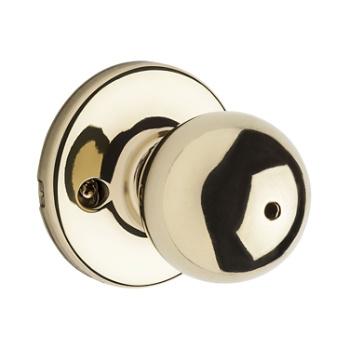 Merveilleux Polo Privacy/Bed/Bath Door Knobs, Polished Brass 300P 3 | Kwikset Door