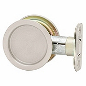 Round Pocket Door Lock , Satin Nickel 334 15 | Kwikset Door Hardware