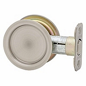 Round Pocket Door Lock  , Antique Nickel 334 15A | Kwikset Door Hardware