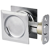 Square Pocket Door Lock  , Satin Chrome 334 26D SQT | Kwikset Door Hardware