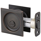 Square Pocket Door Lock  , Venetian Bronze 335 11P SQT | Kwikset Door Hardware