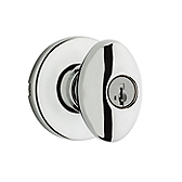 Aliso Door Knobs, Polished Chrome 400AO 26 SMT | Kwikset Door Hardware