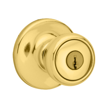 Mobile Home Knob , Polished Brass 400M 3 | Kwikset Door Hardware