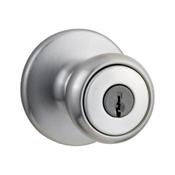 Tylo Door Knobs, Satin Chrome 400T 26D | Kwikset Door Hardware