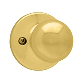 Polo Inactive/Dummy Door Knobs, Polished Brass 488P 3 | Kwikset Door Hardware