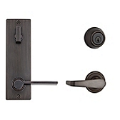 Contemporary Metal Interconnect With Kingston and Ladera Lever Interconnect Light Commercial, Venetian Bronze 508KNLXLRL RH 11P SMT | Kwikset Door Hardware