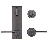 Contemporary Metal Interconnect With Ladera Lever Interconnect Light Commercial, Venetian Bronze 508LRLXLRL LH 11P SMT | Kwikset Door Hardware