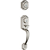Montara Double Cylinder Handlesets, Satin Nickel 554MNH LIP 15 SMT | Kwikset Door Hardware