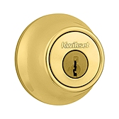 660/665 Deadbolt  , Polished Brass 665 3 | Kwikset Door Hardware