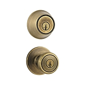 Tylo Combo Pack , Antique Brass 695T 5 | Kwikset Door Hardware