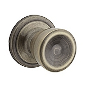 Abbey Passage/Hall/Closet Door Knobs, Antique Brass 720A 5 | Kwikset Door Hardware