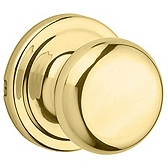 Juno Passage/Hall/Closet Door Knobs, Polished Brass 720J 3 | Kwikset Door Hardware
