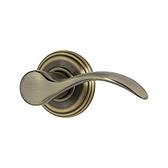 Pembroke Door Levers, Antique Brass 720PML 5 | Kwikset Door Hardware