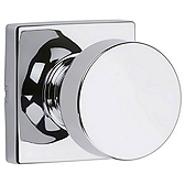 Pismo Passage/Hall/Closet Door Knobs, Polished Chrome 720PSK SQT 26 | Kwikset Door Hardware