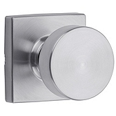 Pismo Passage/Hall/Closet Door Knobs, Satin Chrome 720PSK SQT 26D | Kwikset Door Hardware