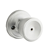 Abbey Privacy/Bed/Bath Door Knobs, Satin Chrome 730A 26D | Kwikset Door Hardware