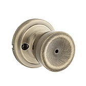 Abbey Door Knobs, Antique Brass 730A 5 | Kwikset Door Hardware