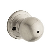 Circa Privacy/Bed/Bath Door Knobs, Satin Nickel 730CA 15 | Kwikset Door Hardware