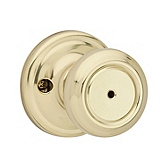 Cameron Privacy/Bed/Bath Door Knobs, Polished Brass 730CN 3 | Kwikset Door Hardware